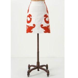 {Anthropologie} Vanessa Virginia FlameKissed Skirt